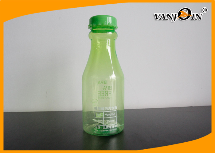 Green Wine Plastic Drink Bottles 350ml Reusing Plastic Water Bottles for Cocktail