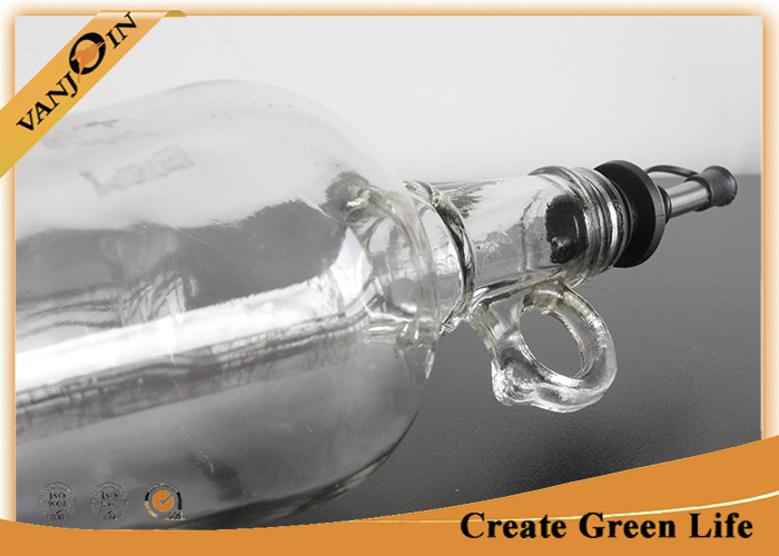 High Flint 500ml Glass Olive Oil Bottles With Stainless Steel Nozzle , Recycling Glass Bottles