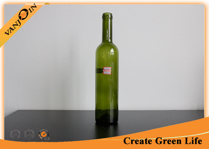 Dark Green 1L Olive Oil Glass Bottles With Lids , Empty Glass Bottles for Essential Oils