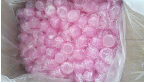 Pink Square HDPE Plastic Cream Jar with Screw Caps , Cosmetic Packaging Jars