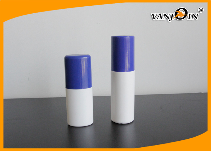 Empty 70ml Round Shape HDPE Plastic Pharmacy Bottles Recycled with Blue Top Cap