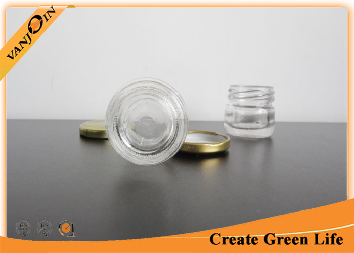 30ml Little Empty Glass Jars / Miniature Glass Bottles and Jar for Food Storage