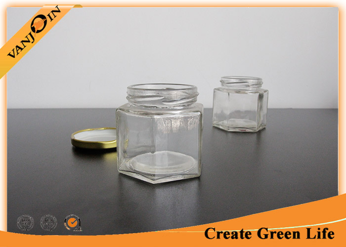 Custom Small Glass Canning Jars Decorative Glass Containers for