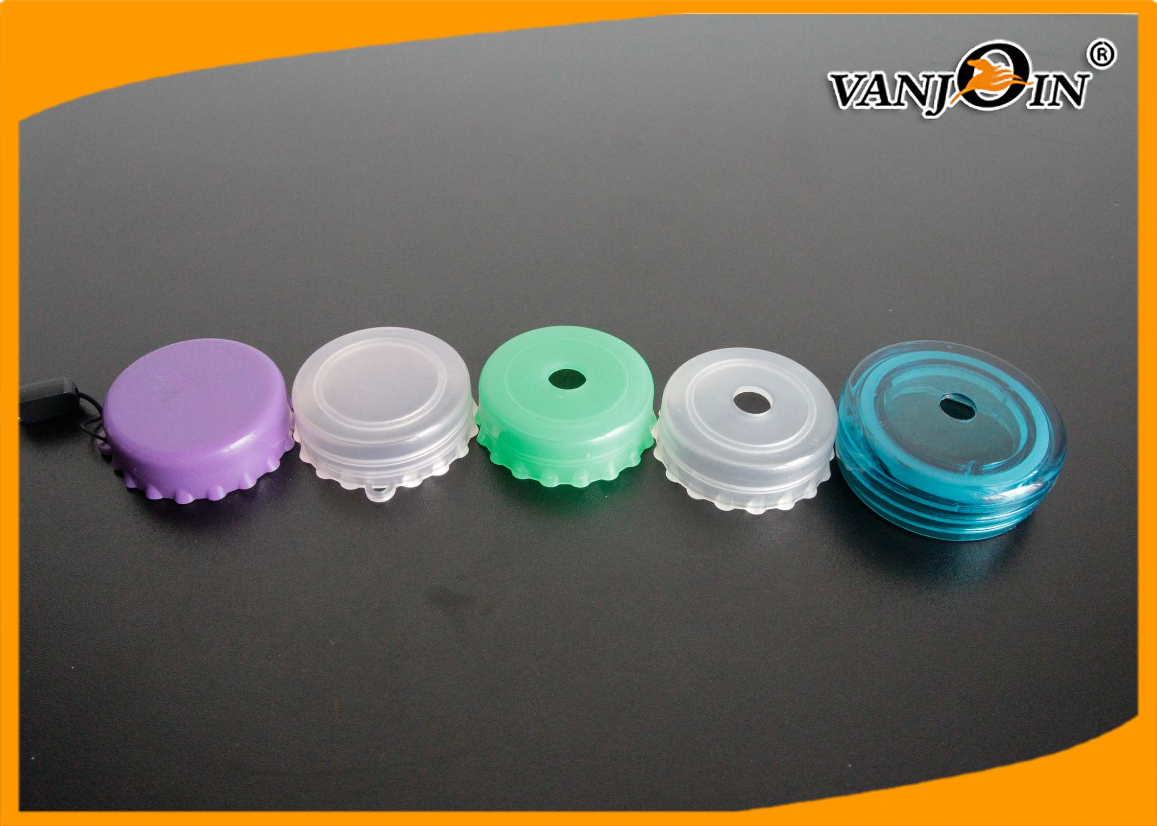 Food Grade Customized Pantone Color Plastic Coke Bottle Cap , Plastic Bottles Lid