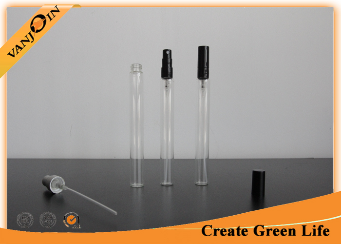 12ml Clear Glass Vials with Caps , Plastic Spray Cap Perfume Vial Mini Bottles