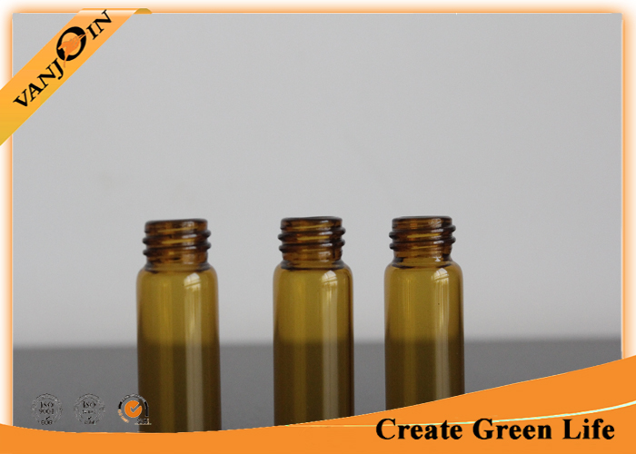 5ml Amber Glass Small Vials With Black Phenolic Cone Lined Screw-on Cap 45mm Height