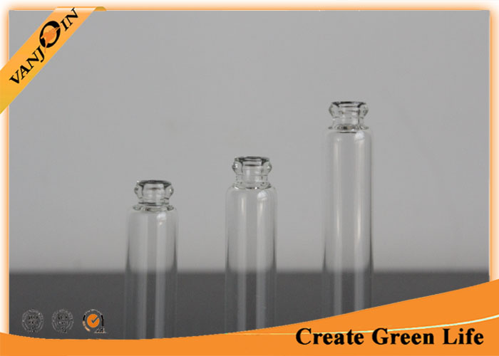 2ml Clear Miniature Glass Bottles Glass Perfume Vials With Sticks , Glass Spice Vials