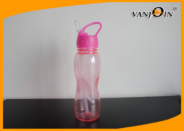 600ml BPA FREE Plastic Drink Bottles Eco friendly Car Drinking Infuser Water Bottle with Straw