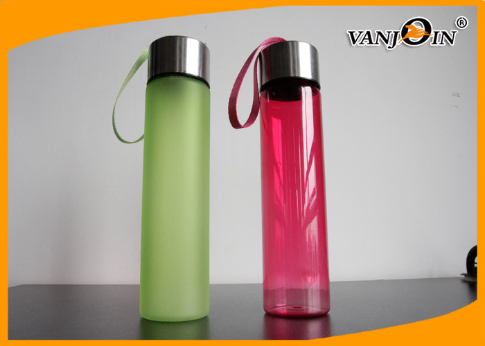 500ml Fashion Colorful Plastic Portable Drinking Water Bottles with Metal Lids