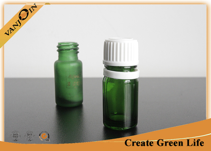 Mini Essential Oil Green Glass Vials and Bottles With Orifice And Cap 5ml or Custom Size