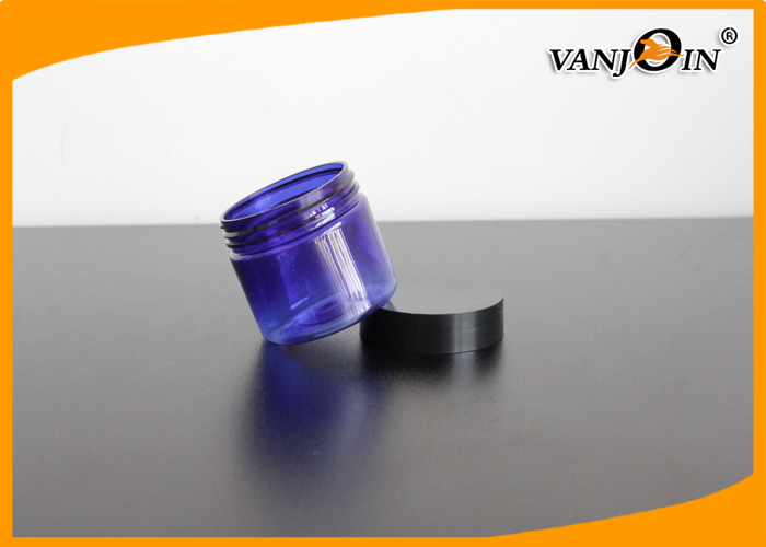 60g Wide Mouth Purple Plastic Cream Jar Lady's Cosmetic Packaging PP PET Jars With Lids
