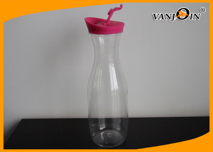 Eco - Friendly Plastic Drinking Bottles Cold Water Jug 1000ML Wide Mouth