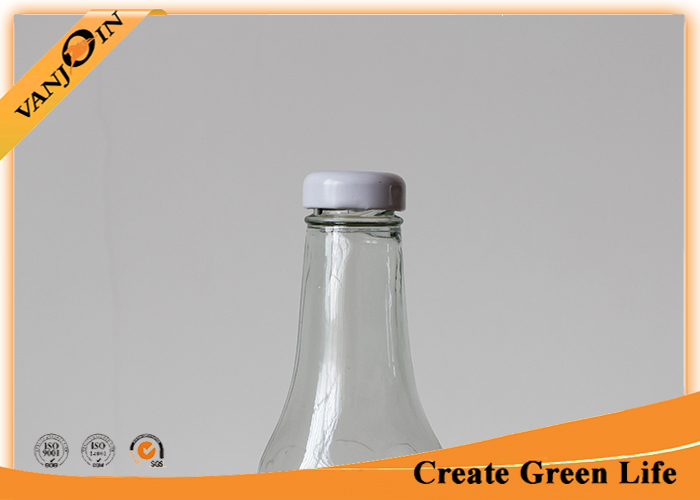 Food Grade 350ml Clear Glass Sauce Bottles With Metal Twist Off Cap