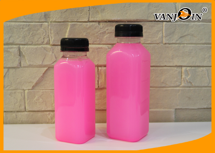 350ml 500ml Plastic French Square Juice Bottle For Cold Pressed Juice