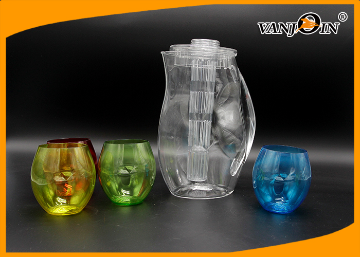 Ice Bucket unique Plastic Drink Bottles with Small Four color Cup