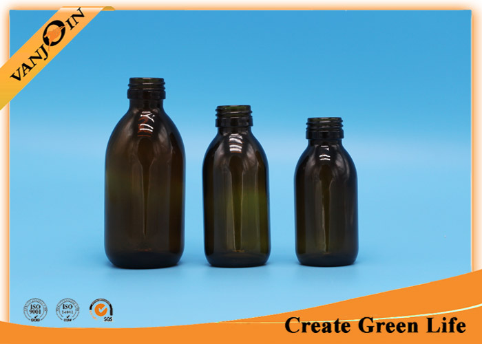 100ml Amber glass bottles for essential oils , Aluminium Screw Cap