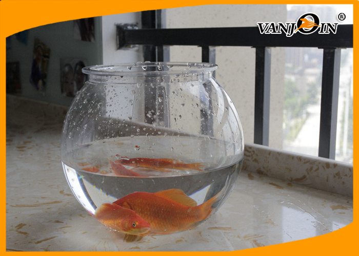 Pet Products 2800ml/93OZ Plastic Fish Bowl Aquarium Tank Mini Elegant Table Accessories