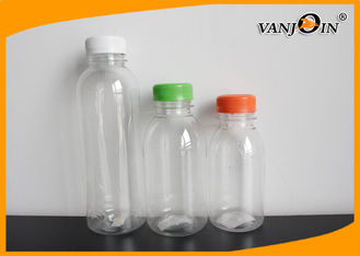 China BPA-Free Empty 250ml / 500ml / 1000 ml PET Milk Bottles , Small Plastic Beverage Bottles supplier