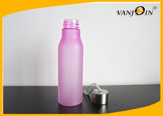 China AS / PC / Tritan Frosted Colorful Plastic Drink Bottles with Aluminium Cap for Cocktail supplier