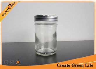 China Flint Half Pint Glass Mason Jar For Preserving Food Or Beverage , Small Decorative Glass Jars supplier