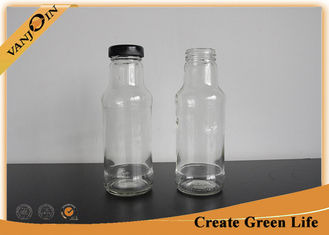 China Screwing Top 10oz Glass Sauce Bottles With Metal Lid , 300ml Small Packaging Bottles supplier
