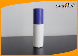 China Empty 70ml Round Shape HDPE Plastic Pharmacy Bottles Recycled with Blue Top Cap supplier