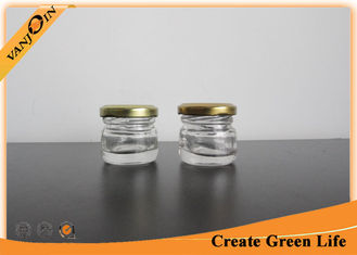 China 30ml Little Empty Glass Jars / Miniature Glass Bottles and Jar for Food Storage supplier