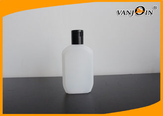 China 180ML Flat HDPE Hand Cream Cosmetic Bottle / Plastic Lotion Bottles With Flip Top Cap supplier