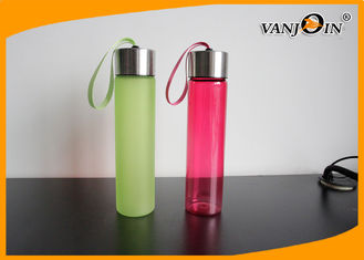 China 500ml Fashion Colorful Plastic Portable Drinking Water Bottles with Metal Lids supplier