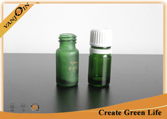 China Mini Essential Oil Green Glass Vials and Bottles With Orifice And Cap 5ml or Custom Size supplier