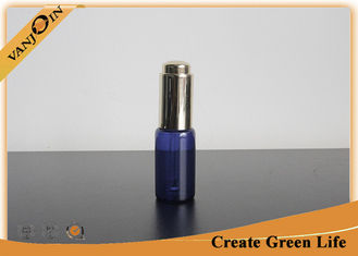 China 20ml Cobalt Glass Vial With Dropper Cap , Custom Blue Essential Oil Bottle Eco-friendly supplier