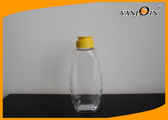 China 360ml Queenline Food Grade PET Plastic Honey Jars With Screw Cap supplier