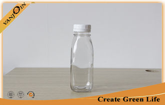 China 250ml French Square Glass Bottles With White Color Tamper Evident Screw Cap supplier