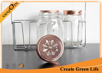 China 70mm Copper Gold Daisy Bottle Lids Mason Jar Lid For Home Decoration supplier