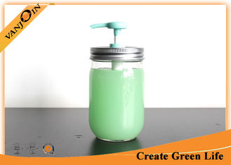 China 70mm Mason Jar Pump Lid  Glass Bottle Lids With Spray For Shampoo supplier