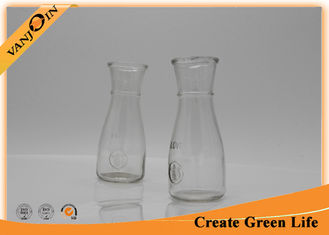 China 12oz Glass Beverage Bottles , Cold Pressed Juice Glass Cup For Bar supplier