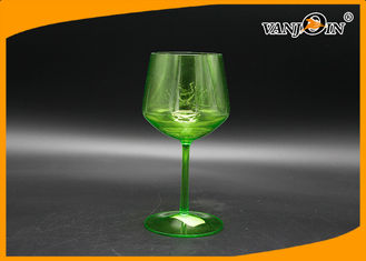 China Acrylic 500cc Plastic Drink Bottles Green Champagne Beer Juice Cup for KTV Bars supplier