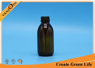 China 100ml Amber glass bottles for essential oils , Aluminium Screw Cap supplier