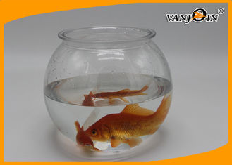 China Pet Products 2800ml/93OZ Plastic Fish Bowl Aquarium Tank Mini Elegant Table Accessories supplier