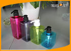 China 350ml / 400ml / 500ml / 600ml Square PET Cosmetic Bottles , Durable Plastic Bottle factory