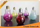 China Color Painted Glass Bulb Bottles For Beverage , Milk , Juice 150ml Empty Glass Bottles factory