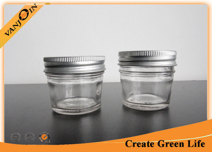 4oz little eco mason glass jars with metal screwing lid glass canning jar wholesale