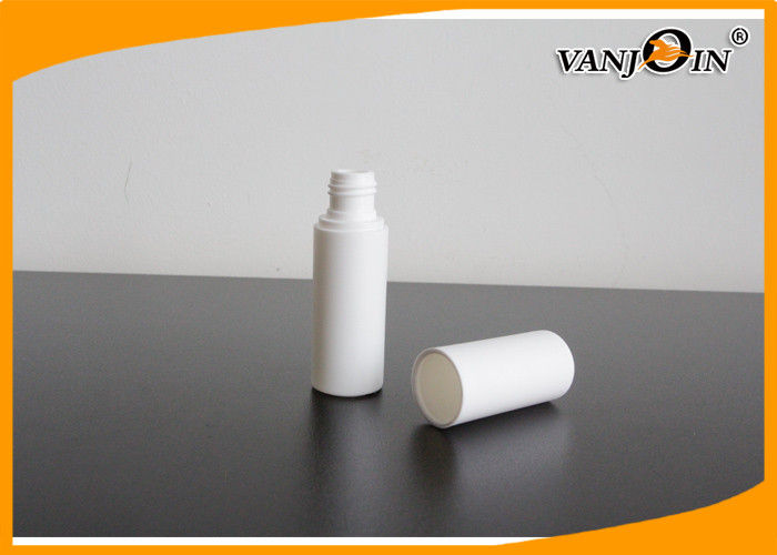 Round White HDPE Plastic Bottles for Comestic with Pumps and Full Caps Cosmetics Bottle