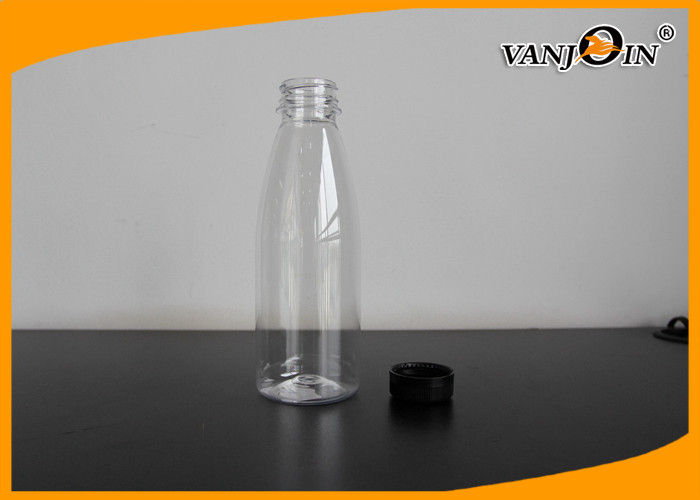 Empty Cold Pressed 500ml Plastic Juice Bottles With Custom Sticker