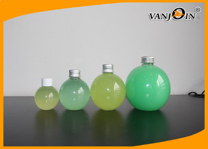 250ml 500ml Screw Cap Plastic Juice Bottles Spherical