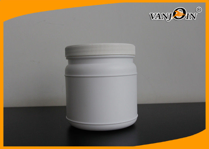 ml White Round Plastic Food Jars HDPE Plastic Jar Containers