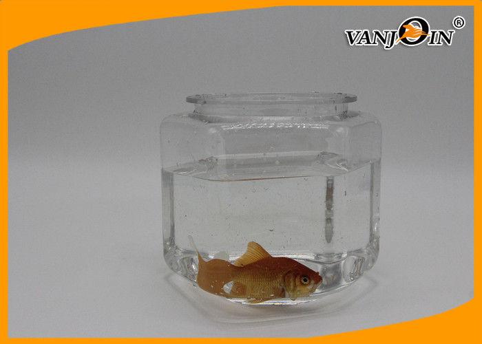 3 5L Hexagon PET Plastic Aquarium , Transparent Pet Fish Tank