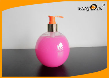 500ml Ball Shaped PET Cosmetic Bottles with Lotion Pump , Plastic Shampoo Bottles