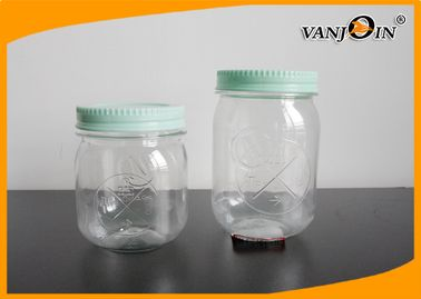 Food Grade Empty Plastic Jars 250ml / 550ml Disposable Plastic Food Containers