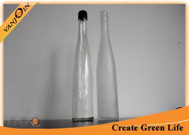 Long Neck 375ml Clear Glass Wine Bottles With Screw Cap ,  Wholesale Wine Bottles
